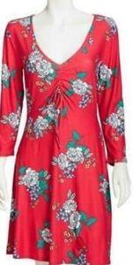 Bobbie brooks red soft and cozy floral dress